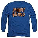 Johnny Bravo Cartoon Network Series Show Logo Adult Long-Sleeve T-Shirt