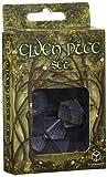 Q Workshop Elvish Dice Transparent/Blue (7)