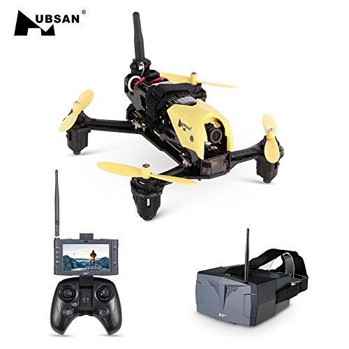 Amyove Drone Quadcopter Hubsan H122D Storm RC Helicopter 4CH 5.8G FPV Micro Speed Racing Drone Quadcopter with HD 720P Camera Best Gift for Kids Eyewear type