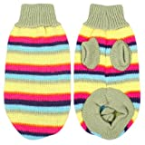 Como Winter Striped Hand Knit Yorkie Dog Clothing Pet Puppy Sweater Green XS, My Pet Supplies