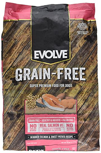 Evolve Grain Free 12Lb Deboned Salmon & Sweet Potato -