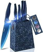 wanbasion Azul Set Cuchillos Cocina Acero Inoxidable