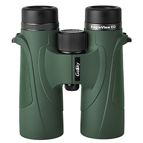 Cheap Gosky EagleView 10×42 ED Glass Binoculars for Adults, Professional Waterproof Binoculars for Bird Watching Travel Stargazing Hunting Concerts Sports-with Phone Adapter Accessories