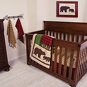 Amazon Com Trend Lab Northwoods 3piece Crib Bedding Set Baby