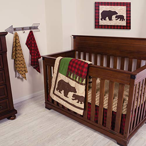 - Trend Lab Northwoods 6Piece Crib Bedding Set