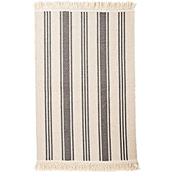 Amazon Com Ikea Flatwoven Area Kitchen Rug Stripes Cotton