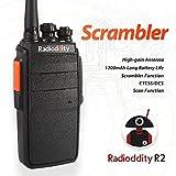 Radioddity R2 UHF 400-480MHz Two Way Radio 16 CH Scrambler VOX Walkie Talkies with Earpiece (1 PCS)
