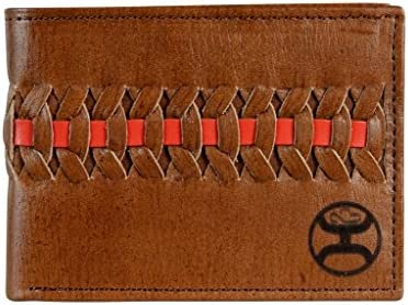 d1a1c748c477 Hooey Brand Signature Red/Brown Interlaced Dark Brown Leather Bifold ...