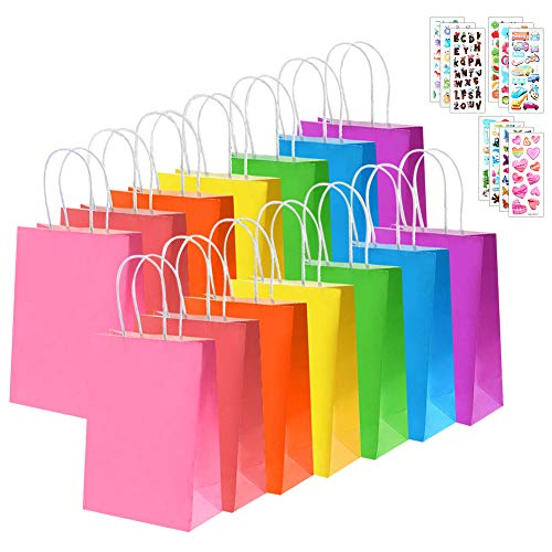 28 Pieces Kraft Paper Gift Bags Party Favor