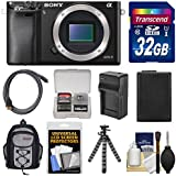 Sony Alpha A6000 Wi-Fi Digital Camera Body with 32GB Card + Case + Battery/Charger + Tripod + Accessory Kit
