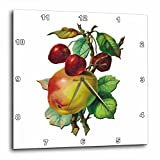 3dRose dpp_170413_3 Vintage Apples on a Branch with Red Cherries-Wall Clock, 15 by 15-Inch Review