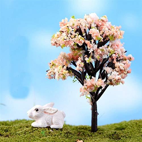 Kiartten 50% - Mini Tree Fairy Garden Decorations Miniatures Micro Landscape Resin Crafts Bonsai Figurine Garden Terrarium Accessories 1 Pcs - Miniature Fig Tree ()
