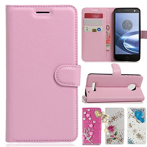 Motorola Moto Z Play Droid Case , Best Share Luxury Card Slots Holder Flip Stand Leather Wallet Case With Classic Magnetic Snap Cover For Motorola Moto Z Play Droid 2016 ()