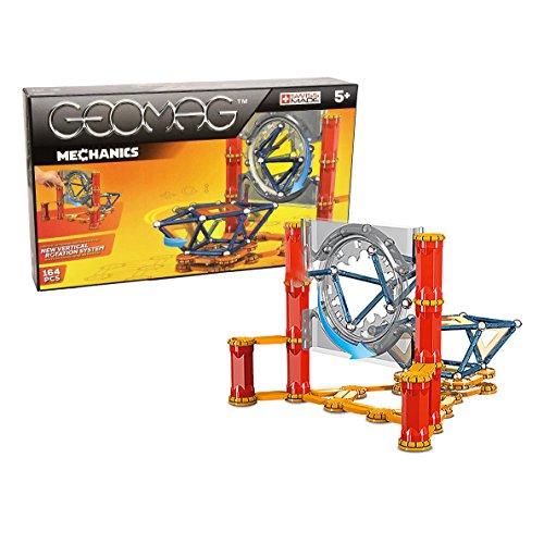 Geomag Mechanics Kit (164 Piece), Blue/Orange/Red, One Size