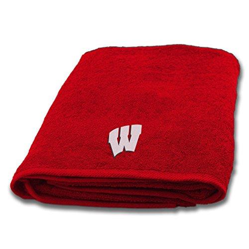 Northwest Wisconsin Badgers NCAA Applique Bath Towel