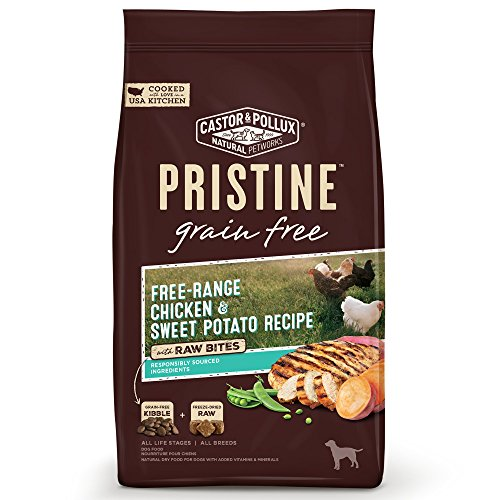 Castor & Pollux Pristine Grain Free Free-Range Chicken & Sweet Potato Recipe with Raw Bites Dry Dog Food, 18 ()