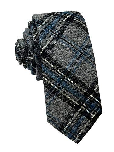 Men's Tartan Plaid Pattern Ties Wool Cashmere Business Winter Wedding Party Neckties Best Gift for - Tartan Tie Wool