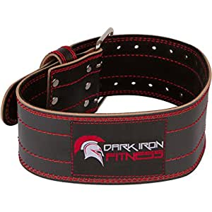 XS classic heavy duty leather weight belt accessory for her or youth to wear benefits comfort relieve spine joint pain has double steel chrome buckles protective safety back protection strengthener