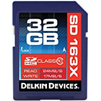 Delkin 32 GB Secure Digital (SD) PRO Class 10 163X Memory Card DDSDPRO3-32GB