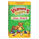Yummi Bears Vegetarian Calcium + Vitamin D3 Supplement for Kids, 90 Gummy Bears by Yummi Bears