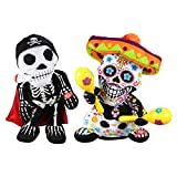 Annibus Soft Halloween Stuffed Plush Toy Dancing Skeleton Electric Doll with Music