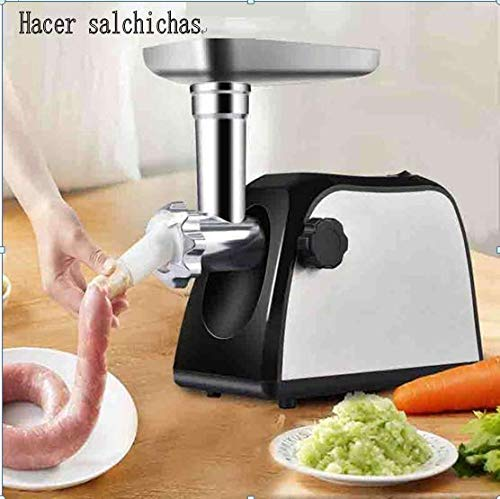 DPThouse Electric Meat Grinder 2000W Stainless Steel Sausage Stuffing Maker Home Food Mincer