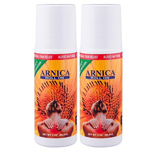 Sanar Naturals Arnica Pain Relief Roll On (2 Pack) – Topical Analgesic Remedy for Sore Muscle, Bruises, Sprains, Scars and Arthritis, Menthol Aroma, Pomada de Arnica Forte