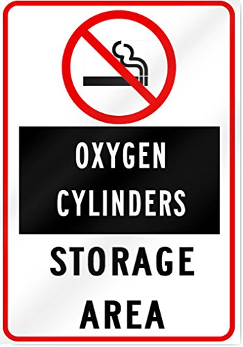 No Smoking Oxygen Cylinder Storage Area Sign - 10