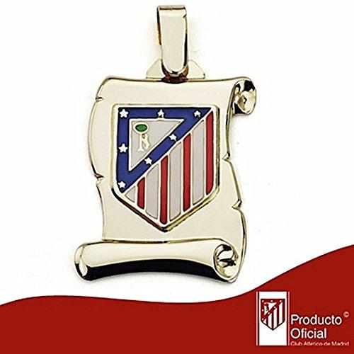 Atletico Madrid Droit parchemin bouclier or 18k grande [6976] - Modèle: 20-039