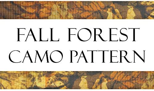 18in Soft-Tyes Bag Latch Hooks Made in USA with Black Ratchet PowerTye 1.5in x 8ft FALL FOREST CAMO KIT 1 kit