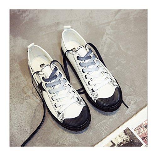 Schwarz Brettschuh Damenschuhe flache größe 39 Sommersegeltuchschuhe Farbe um arbeiten beiläufige Schuhe Weiß Atmungsaktive OqUzwTxBO