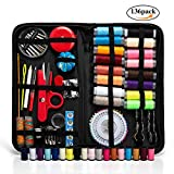 Sewing Kit, 136 PCS DIY Premium Sewing Supplies, Zipper Portable Mini Sew Kits for Kids, Traveler, Beginner, Emergency, Filled with Scissors, Thimble, Thread, Needles, Tape Measure, Carrying Case