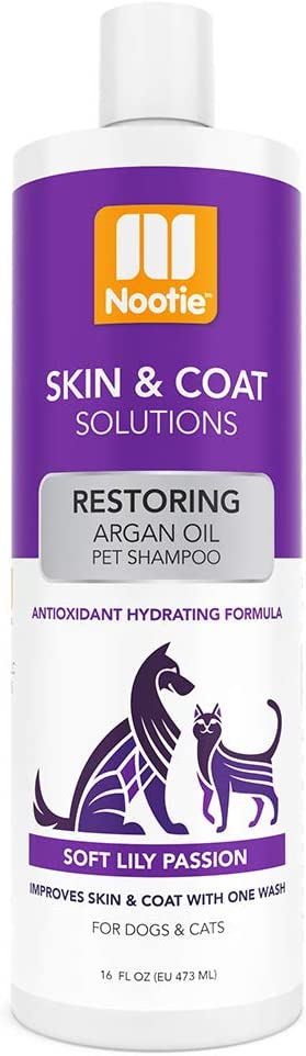 Nootie Restoring Argan Oil Pet Shampoo, Soft Lily Passion 16oz