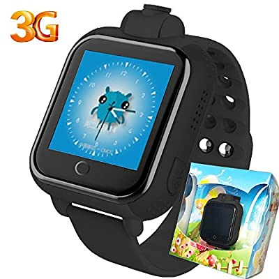 3G GPS Tracker Kids Smart Watch TURNMEON Wristwatch with Augmented Reality 4D AR SIM SOS WIFI Android Wear Camera Touch Wristwatch Parent Control app for Smartphone (Black)