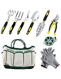 auelife Juego de herramientas de jardín, de mano de aleación de aluminio Kit de jardinería