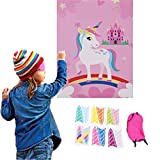 Unicorn Birthday Banner & Pin the Horn on the Unicorn game