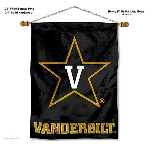 Vanderbilt Commodores Wall - College Flags and Banners Co. Vanderbilt Commodores Banner with Hanging Pole