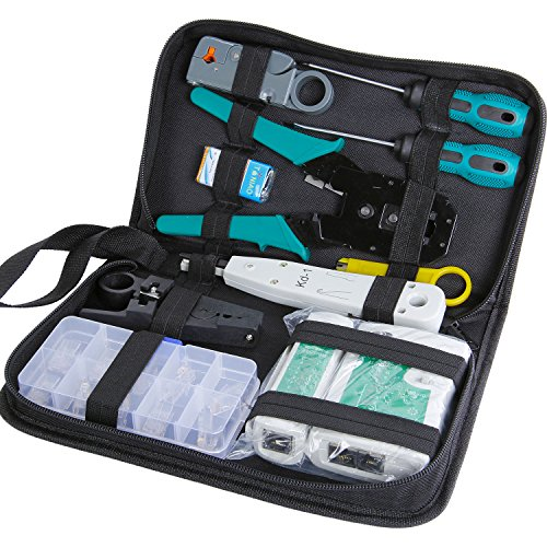 SGILE 12 in 1 Network Repair Kits Professional Network Tools Kits Computer Maintenacnce Lan Cable Tester Computer & Mobile Device Repair Kits by SGILE (Image #1)