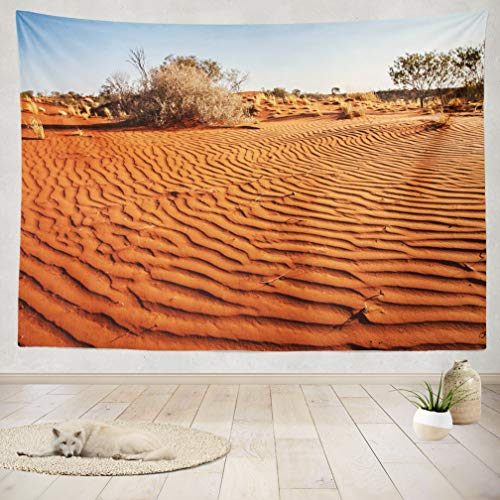 ASOCO Tapestry Wall Handing Small Plants Desert Western Australia Australia Western Desert Sand Wall Tapestry for Bedroom Living Room Tablecloth Dorm 60X80 Inches]()