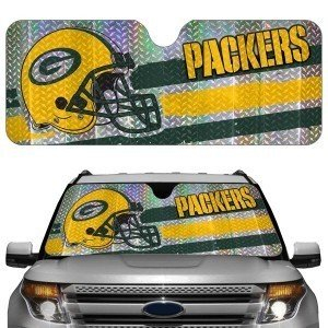 Green Bay Packers NFL Auto Sun Shade (Car Team Sunshade)