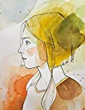 Notebook: Art painting woman girl watercolor paper profile pictures picturing artwork cherub artist