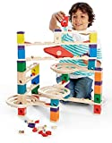 Hape 6009 Quadrilla Vertigo 134pc Marble Run with Extra Bag of 50 Marbles and a Coloring Book