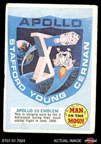 (1969 Topps Man on the Moon # 1 Apollo 10 Emblem (Card) Dean's Cards 1.5 - FAIR 3402977)