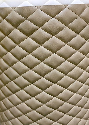 Vinyl, Leather Faux, Quilted Light neutral contract, auto headliner headboard fabric with 3/8