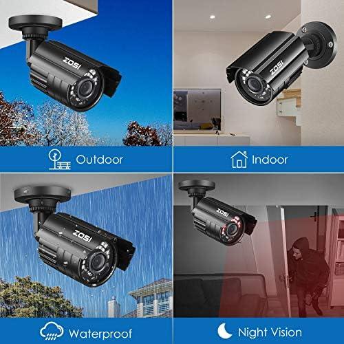 ZOSI 1080P Hybrid 4-in-1 HD TVI/CVI/AHD/CVBS 1920TVL 2.0MP CCTV Camera Home Security System 80ft Day/Night Vision Metal Waterproof Housing For 960H,720P,1080P,5MP,4K analog Surveillance DVR 51N37SJM 2BPL