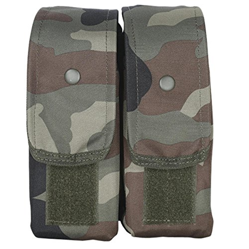 VooDoo Tactical 20-7218005000 M4/Ak47 Mag Pouch, Woodland Camo, Double