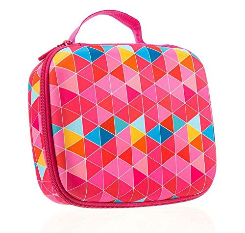 ZIPIT Colorz Jumbo Large Storage Box, Pink Triangles