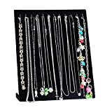 HOUSWEETY 1PC Black Velvet Necklace Bracelet Chain Jewelry Display Holder Stand