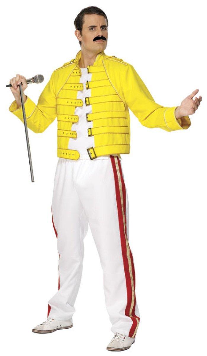 2d69f9a0681 Smiffy s Freddie Mercury Wembley 1986 Costume - Medium  Amazon.co.uk  Toys    Games