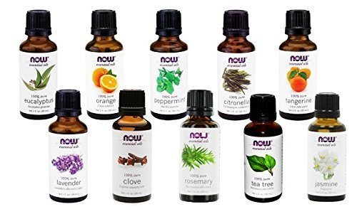 Now Foods Essential Oils 10-Oil Variety Pack Sampler - 1oz Each by NOW Foods